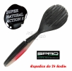 Dropshot gummifische SPRO Beaver Shad - farbe Pearl Black