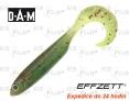 Dropshot gummifische DAM Effzett Grub - farbe Fire Tiger