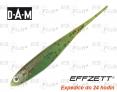 Dropshot gummifische DAM Effzett Jerky - farbe Fire Tiger
