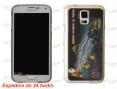 Abdeckung für Handy Samsung Galaxy S5 - Lachs